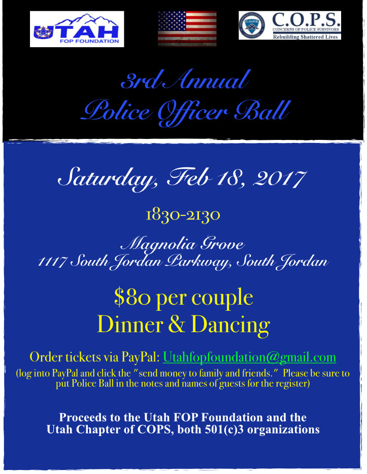 2017 Police Ball UFOP Image Sm